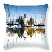 A Lighthouse Throw Pillow