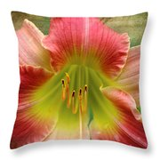A Lily A Day Throw Pillow