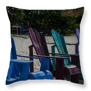 A Line Up Of A Different Color Throw Pillow