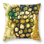 A Little Bit Abstract Grapes Throw Pillow by Jo Ann