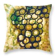 A Little Bit Abstract Grapes Throw Pillow