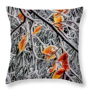 A Little Cheer On A Snowy Day Throw Pillow