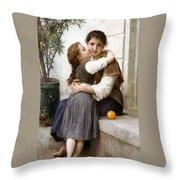 A Little Coaxing Throw Pillow