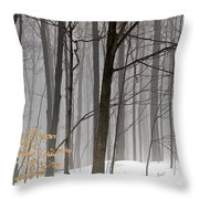 A Little Color Throw Pillow by Vickie Szumigala