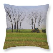 A Little Farming Throw Pillow