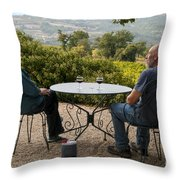 A Little More Wine Please Throw Pillow
