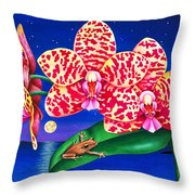 A Little Night Music Throw Pillow by Carolyn Steele