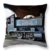 A Locomotive At The Colliery Throw Pillow