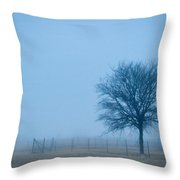 A Lone Tree In The Fog Throw Pillow