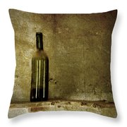 A Lonely Bottle Throw Pillow