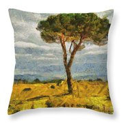 A Lonely Pine Throw Pillow