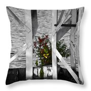 A Lonely Shrub Throw Pillow