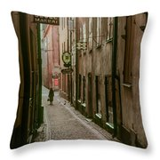 A Lonely Walk Home Throw Pillow