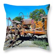 A Long Right Hand Turn  Throw Pillow