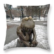 A Long Wait For Summer Throw Pillow