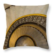 A Look Down The Stairs Throw Pillow