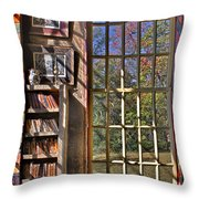 A Look From The Library Throw Pillow by Susan Candelario