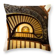 A Look Up The Stairs Throw Pillow