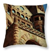 A Looming Castle Throw Pillow