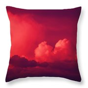 A Looming Thunder Storm Throw Pillow
