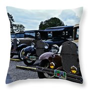 A Lot Of Classic Cars Throw Pillow