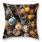 A Lot Of Crock Throw Pillow by Bob Phillips