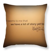 A Lot Of Stories Throw Pillow