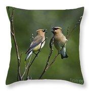 A Love Duet... Throw Pillow