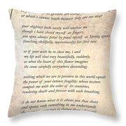A Love Poem Throw Pillow