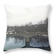 A Lovely Reflective Travel Scene Throw Pillow