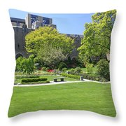 A Lovely View Of A Little Garden At The United States Military A Throw Pillow
