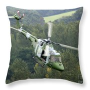 A Lynx Mk 7 Helicopter Throw Pillow