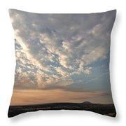 A M Clouds Lake California Throw Pillow
