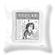 A Magazine Titled Google Magazine Throw Pillow