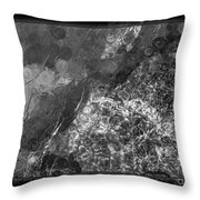 A Magical Face In The Water Abstract Black And White Painting Throw Pillow