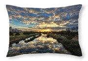 A Magical Marshmallow Sunrise  Throw Pillow by Ron Shoshani
