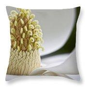A Magnolia Heart Throw Pillow