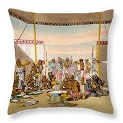 A Mahratta Surdar Entertaining Throw Pillow