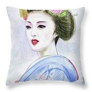 A Maiko  Girl Throw Pillow