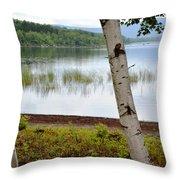 A Maine White Birch Pairing Throw Pillow