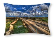 a majestic springtime in Israel Throw Pillow