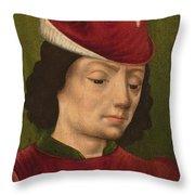 A Male Figure Perhaps Saint Sebastian A Throw Pillow