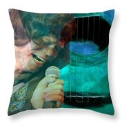 A Man And His Music - James Brown Featured In 'abc Group' And Comfortable Art Group Throw Pillow