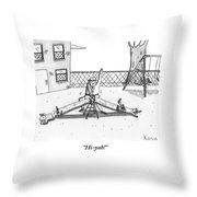 A Man Dressed In Martial Arts Garb Throw Pillow