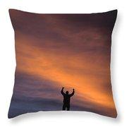 A Man In Lone Pine, California Throw Pillow