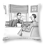A Man Is Seen Speaking With Another Man Throw Pillow