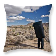A Man Looks Into The Distance Throw Pillow