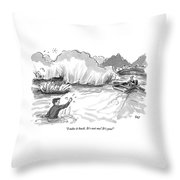 A Man Marooned In A Marsh Shouts Throw Pillow