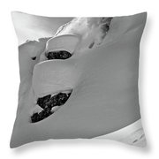 A Man Skiing A Steep Slope In Jackson Throw Pillow