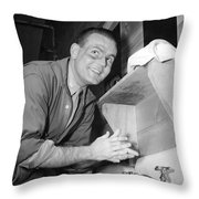 A Man Washing His Hands Throw Pillow
